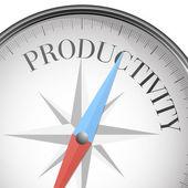 Compass productivity — Stock Vector