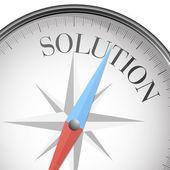 Compass solution — 图库矢量图片