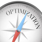Compass optimization — Stock Vector
