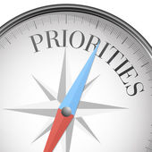 Compass priorities — Stock Vector