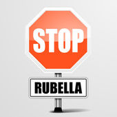 Red rubella Stop Sign — Stok Vektör