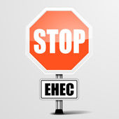 Red ehec Stop Sign — Stok Vektör