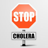 Red cholera Stop Sign — Stockvektor