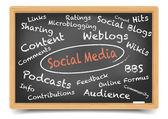 Blackboard Social Media — Stock Vector