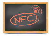 Blackboard NFC — Stock Vector