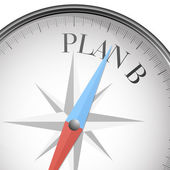 Compass plan B — Stock Vector