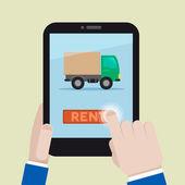 Rent a truck — Stock Vector