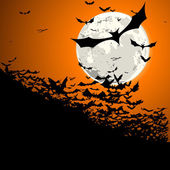 Halloween bats moon — Stock Vector