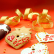 Foto de Stock  : Two heart shape cookies