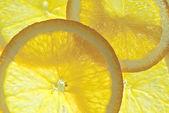 Pozadí z několika plátky pomeranče — Stock fotografie