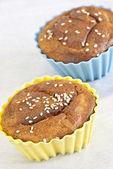 Susam serpilir cupcake — Stok fotoğraf