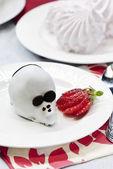 çikolatalı kek fare — Stok fotoğraf