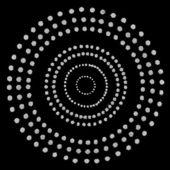Padrão de círculos prateado — Foto Stock