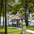 Stockfoto: Tropical gazebos with oceview
