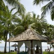Stock Photo: Tropical gazebos with oceview