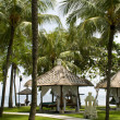 Tropical gazebos with oceview — Foto de stock #18739793