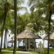 Tropical gazebos with oceview — Stockfoto #18739793