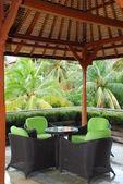 Café i hotellet territorium — Stockfoto