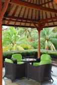 Café in hotel grondgebied — Stockfoto