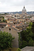Panoramic kind on old houses of Rome — Stock Photo