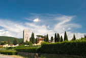 Paisaje toscano de verano hermoso, italia — Foto de Stock