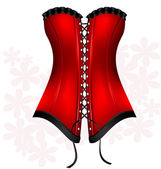 Black-red corset — Vecteur