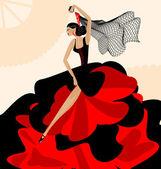 Woman flamenco — Stock Vector