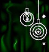 Jewelry Christmas balls — Stock Vector