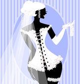 Bride in a corset — Stock Vector