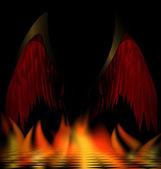 Wings of dark angel — Stock Vector