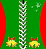 Christmas green lacing — Stock Vector