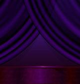 Empty violet room — Stock Vector
