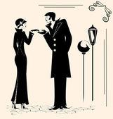 Man och kvinna — Stockvektor