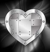 Large metal heart — Stock Vector