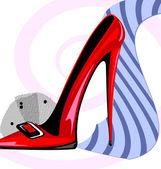 Tie and heel — Stock Vector