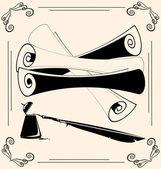 Vintage schriftrollen — Stockvektor