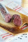 Blood pudding sausage — Stock Photo
