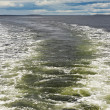 Ship trace on the water — Stock Photo #13125093
