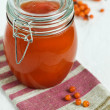 Buckthorn juice with sugar — Stock Photo