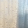 Water drops on the window surface — Stock Photo