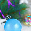 Photo: Christmas background with christmas ball