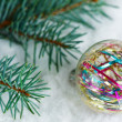 Christmas background with christmas ball — Stock Photo