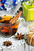 Christmas tea and present — Stockfoto