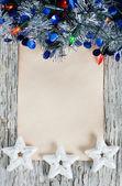Vánoční blahopřání přání — Stock fotografie