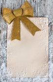Tarjeta de felicitación de navidad con nieve — Foto de Stock