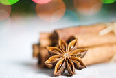 Cinnamon and anise star — Stock Photo