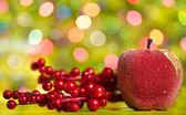 Christmas decoration on the bokeh background — Stock Photo