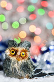 Christmas toy owl — Foto de Stock