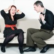 Stock Photo: Conflict between man and woman