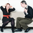 Conflict between man and woman — Stock Photo #17353565